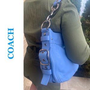 COACH Light Blue Leather Shoulder Bag